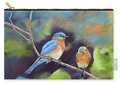 Blue Birds - Soul Mates Carry-all Pouch by Jan Dappen