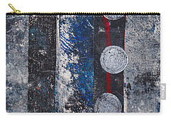 Blue Black Collage Carry-all Pouch