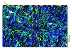 Carry-all Pouch featuring the photograph Blue Blades Of Grass by EDi by Darlene