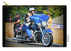 Blue Bling Rider Carry-all Pouch