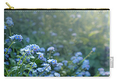 Carry-all Pouch featuring the photograph Blue Blooms by Gene Garnace