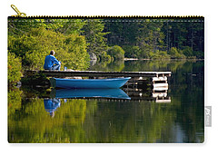 Blue Boat Carry-all Pouch by Brent L Ander