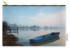 Carry-all Pouch featuring the photograph Blue Boat by Davor Zerjav
