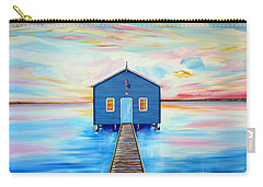 Blue Boat Shed By The Swan River Perth Carry-all Pouch