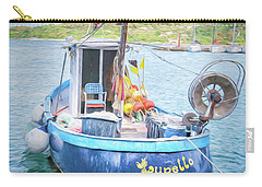 Blue Boat Carry-all Pouch
