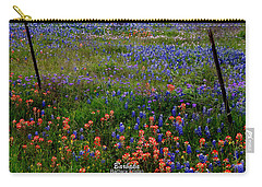 Bluebonnets #0487 Carry-all Pouch by Barbara Tristan