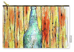 Carry-all Pouch featuring the painting Blue Bottle by Cathie Richardson