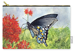 Carry-all Pouch featuring the painting Blue Boy by Sam Sidders