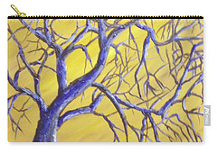 Branches Of Blue Carry-all Pouch by T Fry-Green