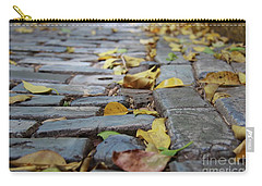 Blue Bricks With Yellow Carry-all Pouch