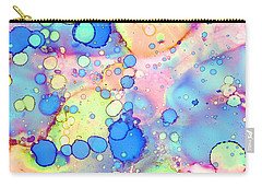 Blue Bubble Gum Pop Carry-all Pouch by Patricia Lintner