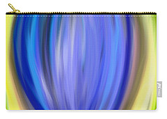 Carry-all Pouch featuring the digital art Blue Bud by Melinda Ledsome