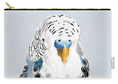 Blue Budgie Carry-all Pouch