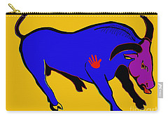 Blue Bull Carry-all Pouch by Hans Magden