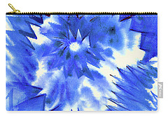 Blue Burst Carry-all Pouch by Joan Hartenstein