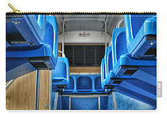 Blue Bus Seats Carry-all Pouch