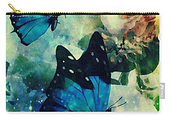Blue Butterfies Carry-all Pouch by Maria Urso