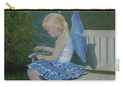 Blue Butterfly Girl Carry-all Pouch