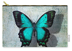 Blue Butterfly Resting Carry-all Pouch