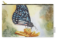 Carry-all Pouch featuring the painting Blue Butterfly by Sam Sidders