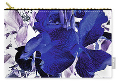 Carry-all Pouch featuring the photograph Blue Canna Lily by Shawna Rowe