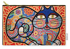 Blue Cat Carry-all Pouch by Jim Harris