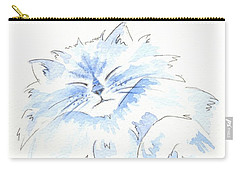 Blue Cat Carry-all Pouch