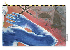 Carry-all Pouch featuring the painting Blue Celestial  by Rene Capone