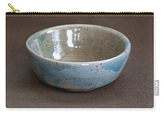 Blue Ceramic Drippy Bowl Carry-all Pouch by Suzanne Gaff