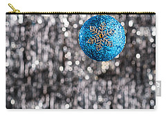 Carry-all Pouch featuring the photograph Blue Christmas by Ulrich Schade