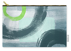 Blue Circles 1- Art By Linda Woods Carry-all Pouch