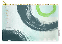 Blue Circles 3- Art By Linda Woods Carry-all Pouch
