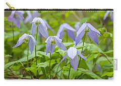 Carry-all Pouch featuring the photograph Blue Clematis by Fran Riley