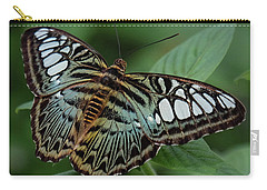 Blue Clipper Butterfly Open Carry-all Pouch