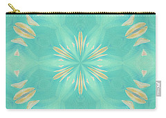 Carry-all Pouch featuring the digital art Blue Coffee by Elizabeth Lock