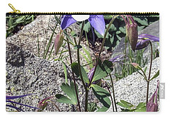 Blue Columbine Colorado Mountains Carry-all Pouch