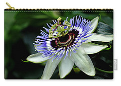 Blue Crown Passion Flower Carry-all Pouch