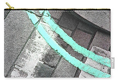 Carry-all Pouch featuring the photograph Blue Curb by Rebecca Harman