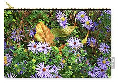 Blue Daisy Dance Carry-all Pouch