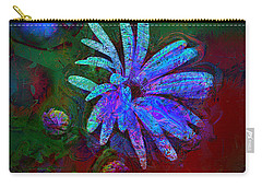 Carry-all Pouch featuring the photograph Blue Daisy by Lori Seaman