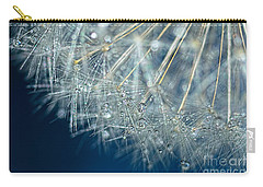 Blue Dandelion Dew By Kaye Menner Carry-all Pouch by Kaye Menner