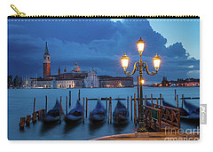 Carry-all Pouch featuring the photograph Blue Dawn Over Venice by Brian Jannsen