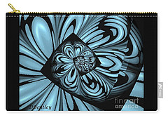 Carry-all Pouch featuring the digital art Blue Deep Hole by Donna Bentley