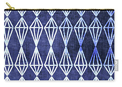 Blue Diamond Stripe- Art By Linda Woods Carry-all Pouch