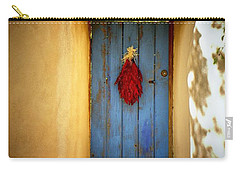Blue Door With Chiles Carry-all Pouch by Joseph Frank Baraba