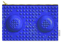Blue Dots Industrial Portrait Carry-all Pouch by Tony Grider