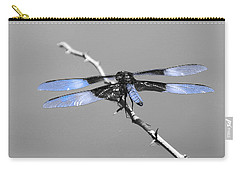 Carry-all Pouch featuring the photograph Blue Dragon by Cindy Manero