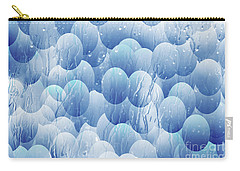 Carry-all Pouch featuring the photograph Blue Eggs - Abstract Background by Michal Boubin