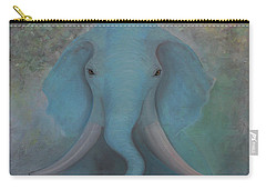 Blue Elephant Carry-all Pouch by Tone Aanderaa