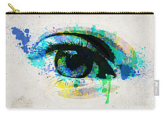 Blue Eye Watercolor Carry-all Pouch